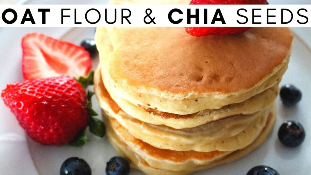 oat flour and chia seeds pancakes
