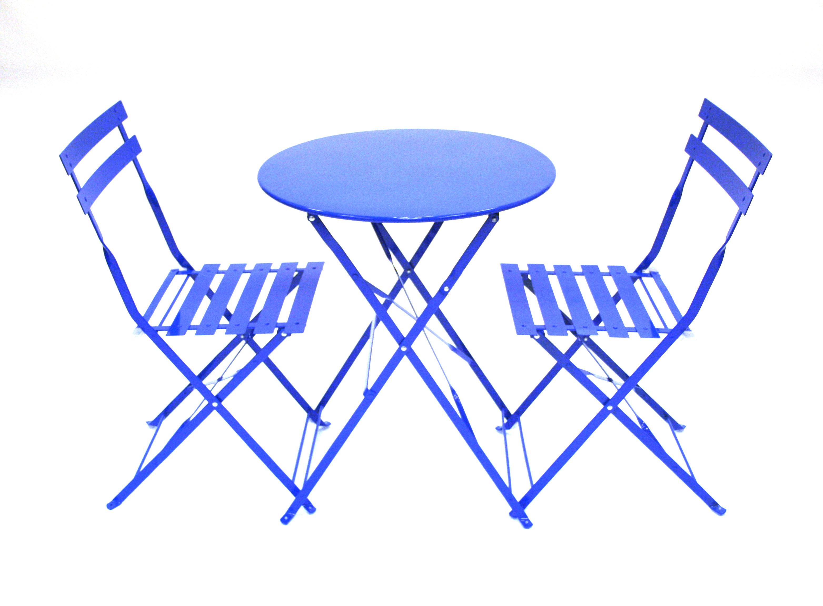 Blue Metal Folding Bistro Chair Amp Table Set For Hire Be