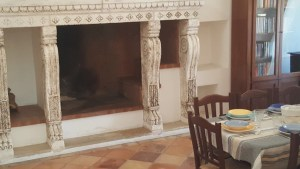 Details Historic Fireplace Villa Elena