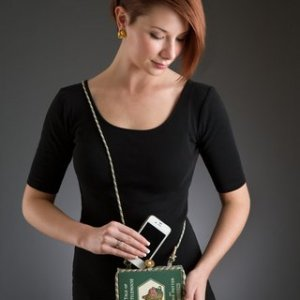 Vintage Book Mobile Phone Purse