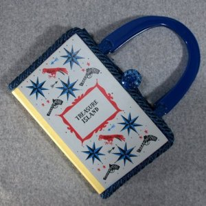 Treasure Island Vintage Book Hand Purse