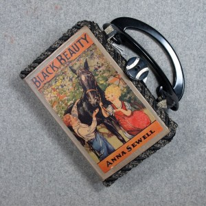 Black Beauty Vintage Book Hand Purse