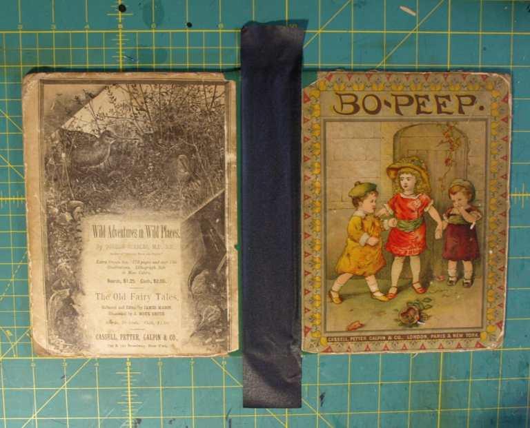 BZ14423 BoPeep Vintage Book linen tape on spine