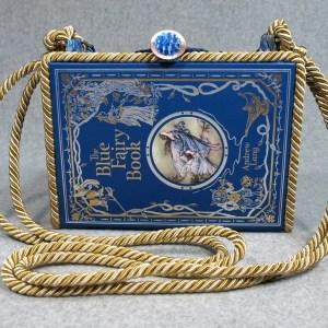 The Blue Fairy Book Vintage Book Shoulder Purse