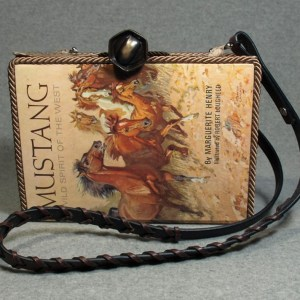 Mustang – Wild Spirit of the West Vintage Book Tablet Purse