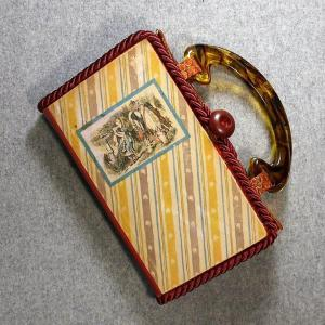 Through The Looking Glass Vintage Book Hand Purse