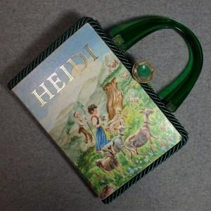 Heidi Vintage Book Hand Purse