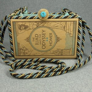 The Iliad and The Odyssey  Vintage Book Shoulder Purse