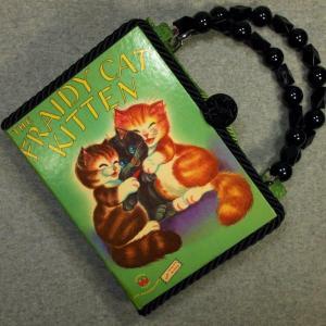 The Fraidy Cat Kitten Vintage Book Hand Purse