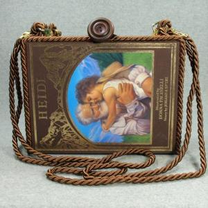 Heidi Vintage Book Tablet Purse