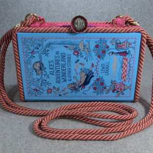 Alice's Adventures in Wonderland Vintage Book Purse