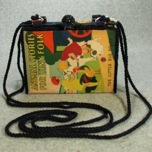 Animal Stories for Tiny Folk Vintage Book Purse