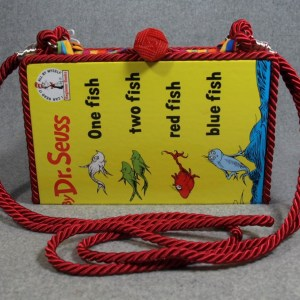 One Fish, Two Fish, Red Fish, Blue Fish Vintage Book Purse