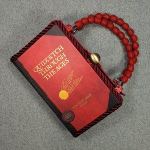 Quidditch Through The Ages  Vintage Book Hand Purse