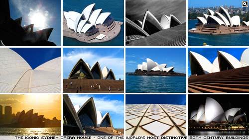 The iconic Sydney Opera House.