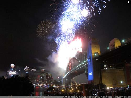New Years fireworks in Sydney, Australia.