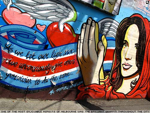 Melbourne graffiti by Simon Moody