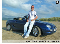 Simon Jones and his MGF