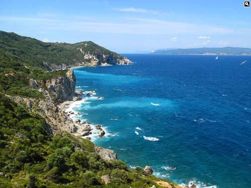The Greek island of Skiathos.