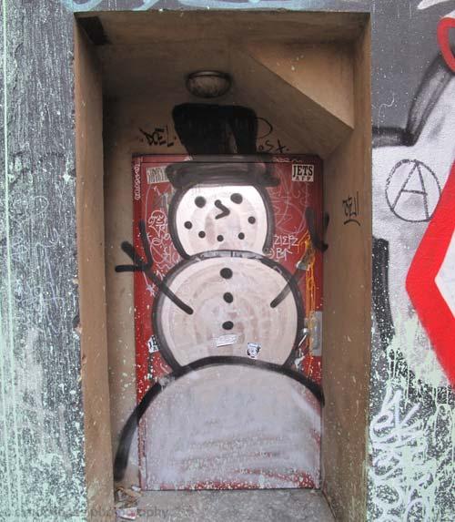 Melbourne snowman