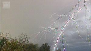Daytime lightning