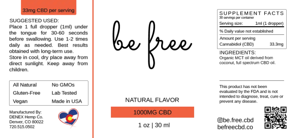 CBD bottle lable