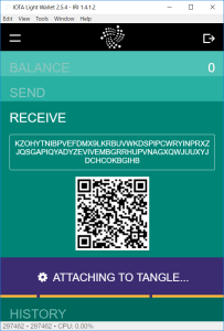 IOTA Wallet - Receive Attachig to tangle