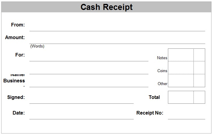 free receipt forms verbal warning template for excel pdf and word – Receipt of Payment Form