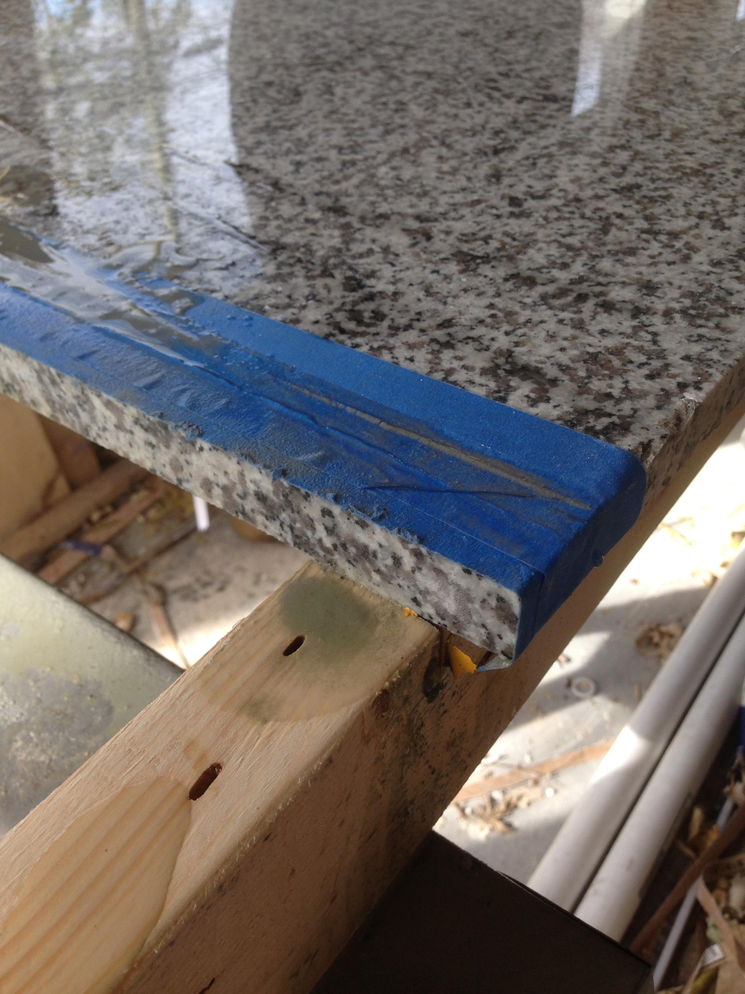 How We DIY'd Our Way to Real Granite Countertops | Beginning in ...