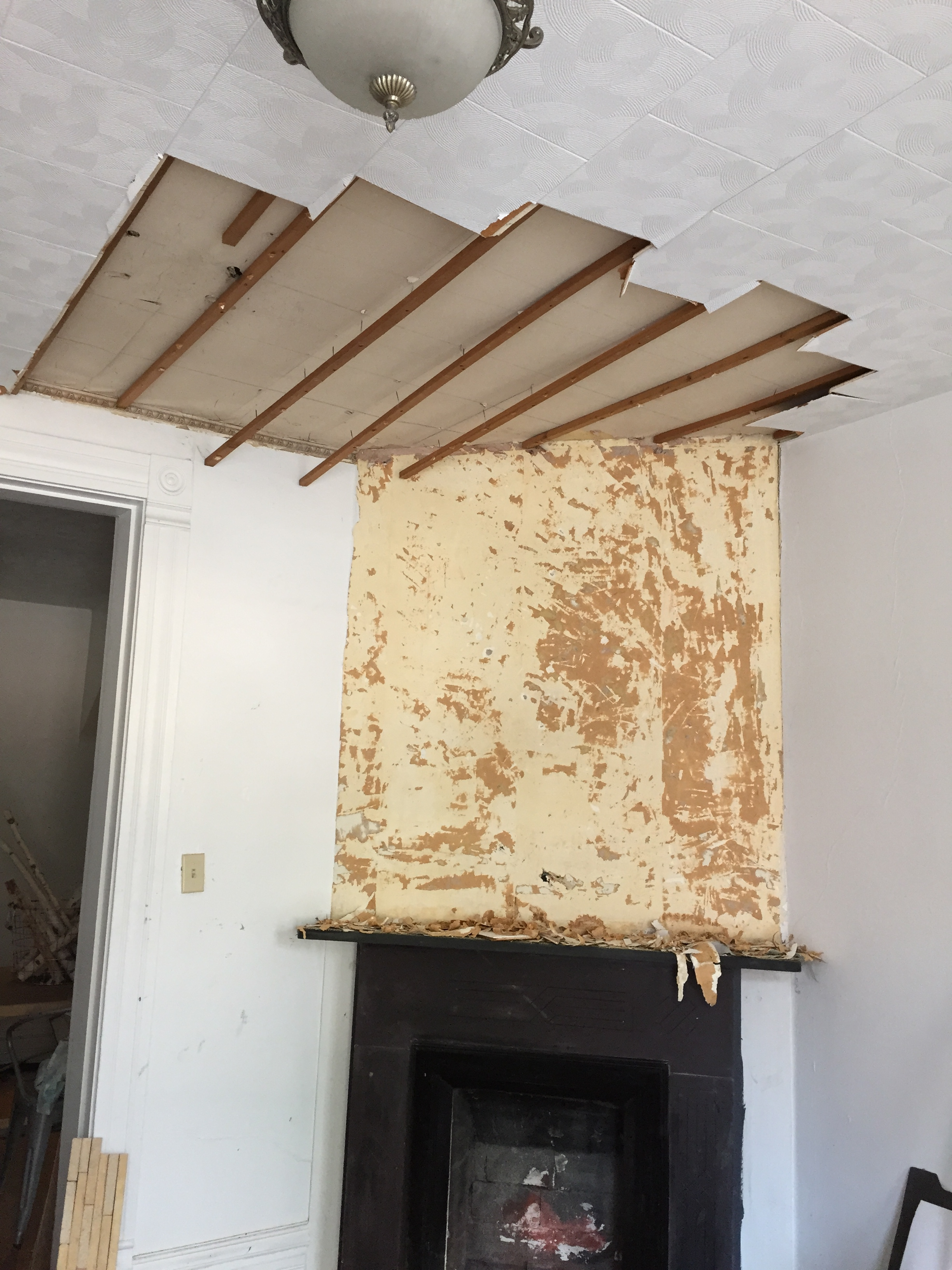 DIY $102 Fireplace Facelift | Beginning in the Middle