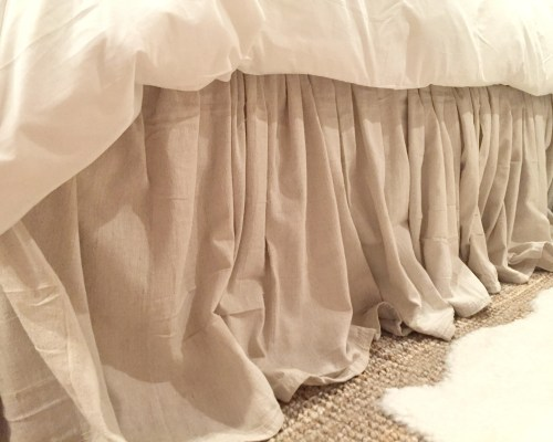 No Sew Drop Cloth Bedskirt