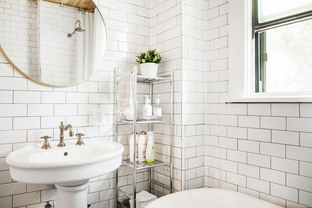 Before After An Updated Take On Black White Beginning In The - How much to fit a bathroom