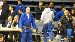 History in the making: Kenneth Guge at the 2013 San Jose Buddhist Level D Olympic Trials Judo Tournament