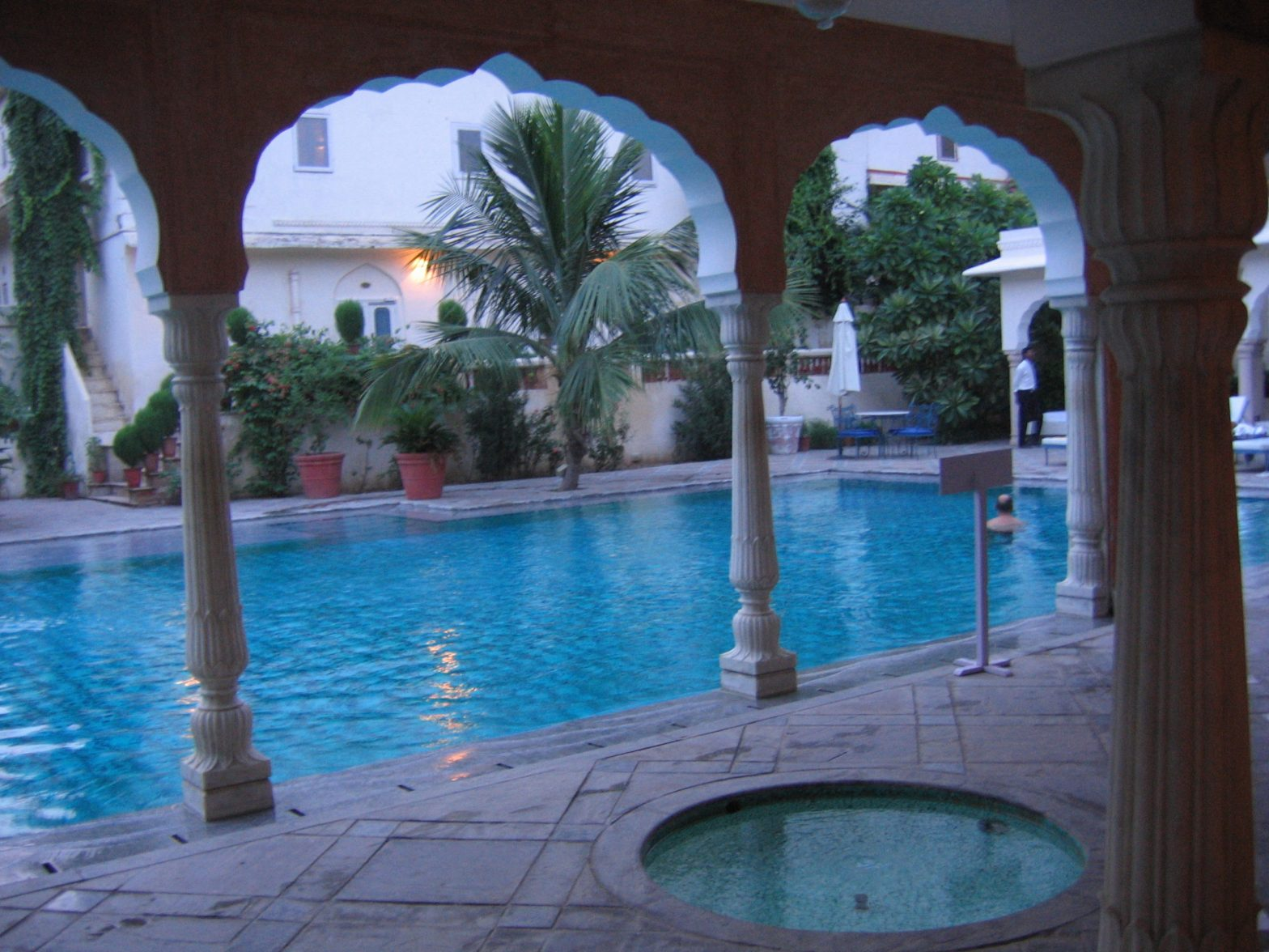 swimming pool, Samode Haveli, Jaipur