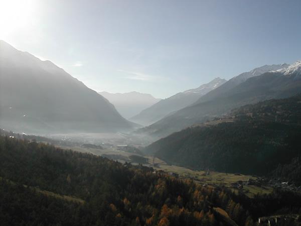 view from the pool, Bagni Vecchi, Bormio
