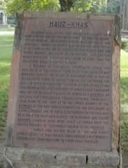 plaque at Hauz Khas