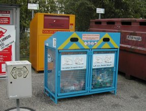 Swiss recycling bins