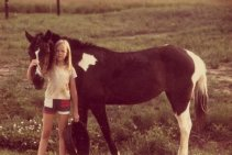 with Dolly the horse, Coupland TX