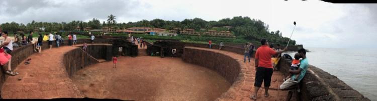 panoramic view of Fort Aguada, Goa.