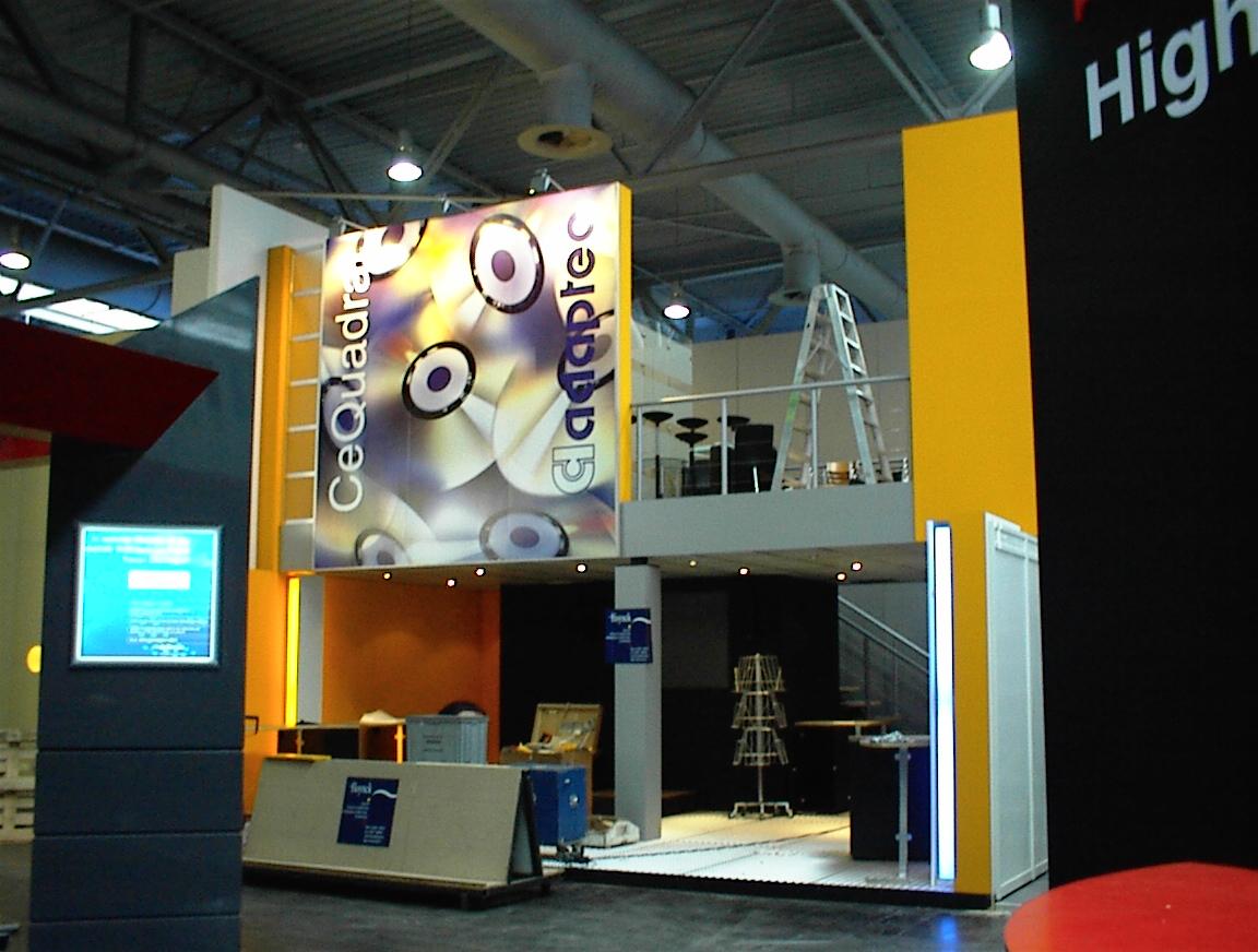 Adaptec/CeQuadrat booth at CeBit 2000