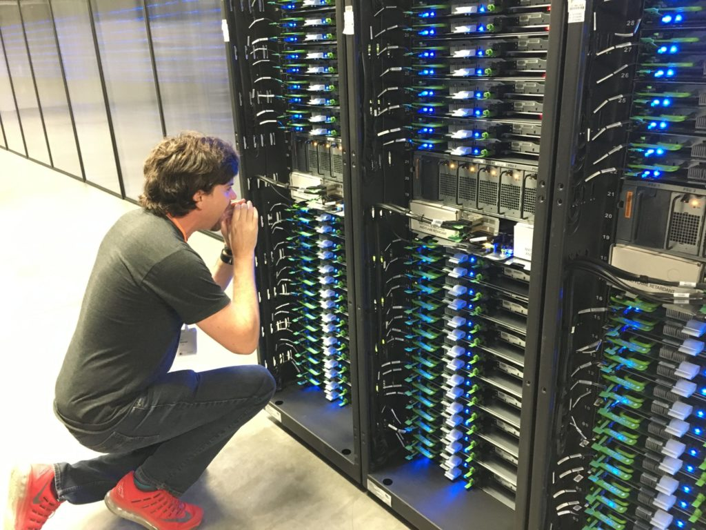 """Brendan recreating his famous """"shouting in the data center"""" video"""