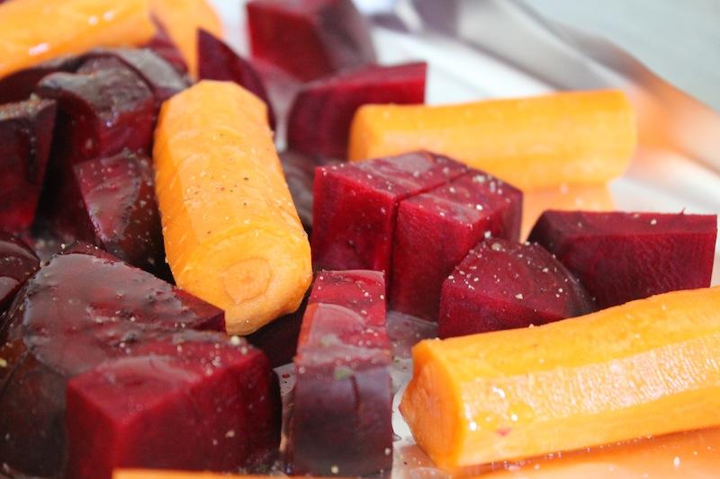 Bietjes en wortel, geroosterd
