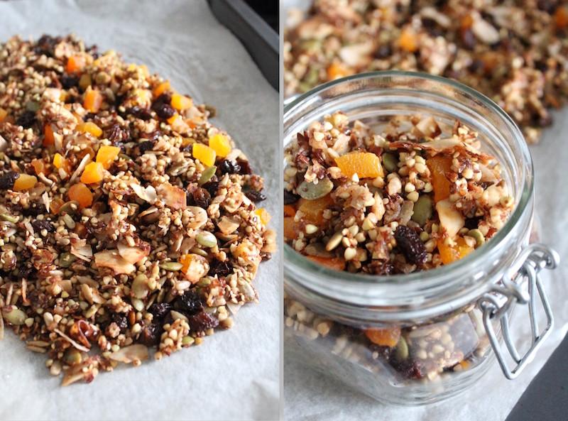 Glutenvrije gezonde granola