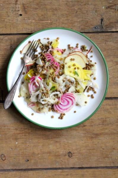 Detox salade met wintergroenten