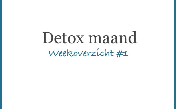detox weekoverzicht