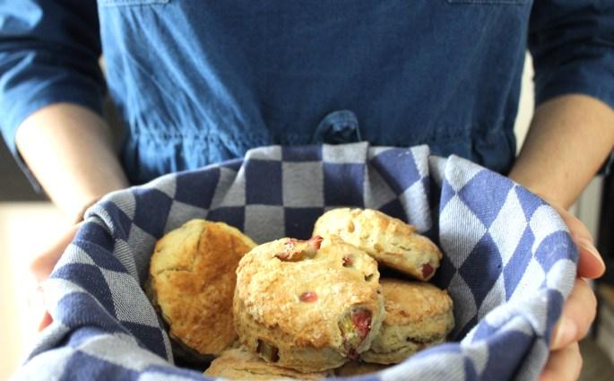Rabarberscones maken