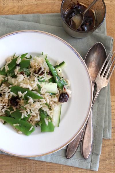 Zilvervliesrijst salade