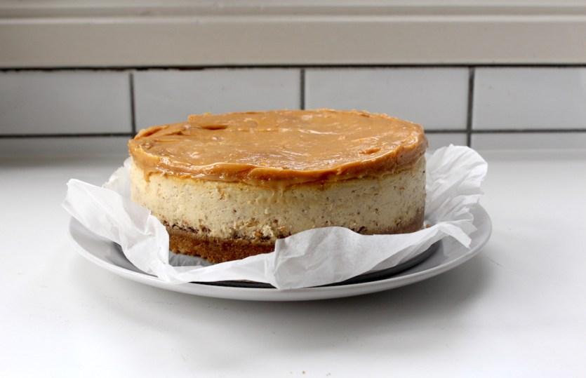 Tony's pretzel toffee cheesecake