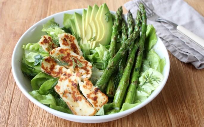 Asperges groene salade