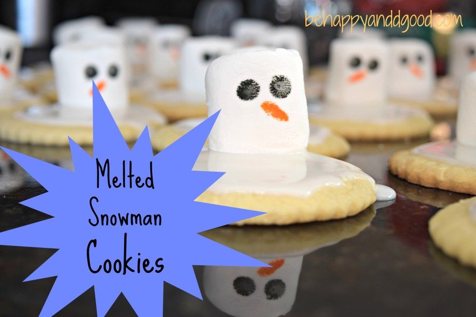 fast homemade melted snowman cookies